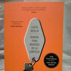 Livres: LUCÍA BERLÍN .MANUAL PARA MUJERES DE LA LIMPIEZA .BOOKET. Lote 238515035
