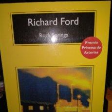 Livros: RICHARD FORD .ROCK SPRINGS .COMPACTOS ANAGRAMA. Lote 240356235