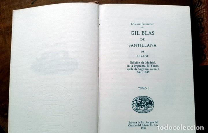 Libros: Lesage-edición facsímil de Gil Blas de Santillana 3 tomos 1ª tirada ejemplar 0086 - Foto 3 - 243140670