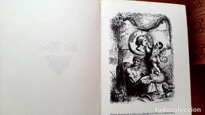 Libros: Lesage-edición facsímil de Gil Blas de Santillana 3 tomos 1ª tirada ejemplar 0086 - Foto 6 - 243140670