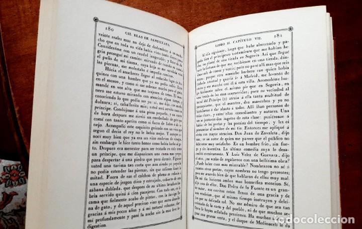 Libros: Lesage-edición facsímil de Gil Blas de Santillana 3 tomos 1ª tirada ejemplar 0086 - Foto 7 - 243140670