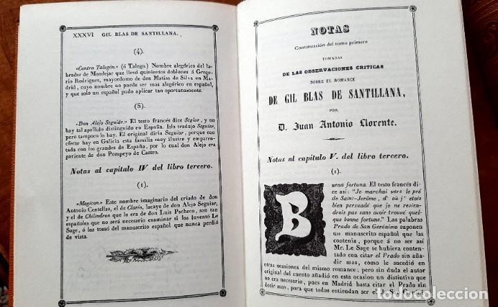 Libros: Lesage-edición facsímil de Gil Blas de Santillana 3 tomos 1ª tirada ejemplar 0086 - Foto 9 - 243140670