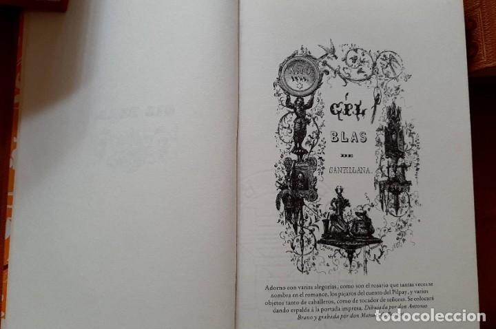 Libros: Lesage-edición facsímil de Gil Blas de Santillana 3 tomos 1ª tirada ejemplar 0086 - Foto 11 - 243140670