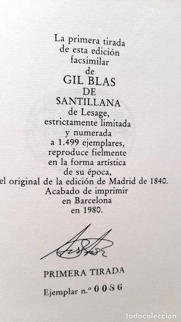 Libros: Lesage-edición facsímil de Gil Blas de Santillana 3 tomos 1ª tirada ejemplar 0086 - Foto 18 - 243140670