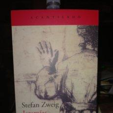 Libros: STEFAN ZWEIG. JEREMÍAS.( POEMA DRAMÁTICO EN NUEVE CUADROS). ACANTILADO. Lote 244454400
