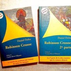 Libros: DEFOE: ROBINSON CRUSOE - DOS TOMOS - NUEVOS. Lote 247587330
