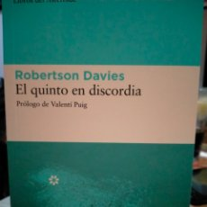Libros: ROBERTSON DAVIES. EL QUINTO EN DISCORDIA .LIBROS DEL ASTEROIDE. Lote 248365085
