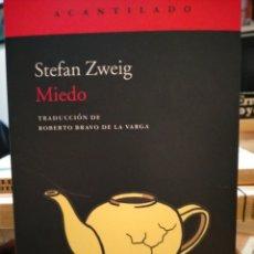 Livros: STEPHEN ZWEIG . MIEDO . ACANTILADO. Lote 266975914