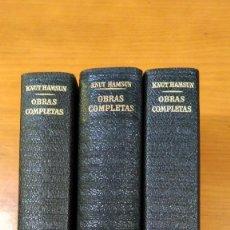 Livres: KNUT HAMSUN. OBRAS COMPLETAS I,II Y III. PLAZA & JANÉS. 1969.. Lote 250284315