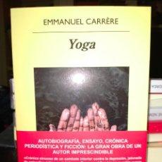 Livros: EMMANUEL CARRÉRE. YOGA . ANAGRAMA. Lote 252396495