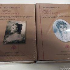 Libros: EMILIA PARDO BAZÁN. OBRAS COMPLETAS 1 Y 2. FUNDACIÓN CASTRO. PRECINTADO. Lote 253801830