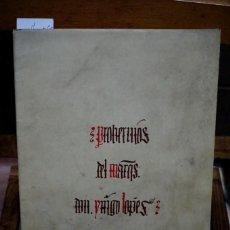 Libros: MARQUES DE SANTILLANA.PROVERBIOS.FACSIMIL. Lote 257451075
