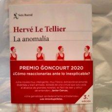 Livres: HERVÉ LE TELLIER. LA ANOMALÍA . SEIX BARRAL. Lote 269326298