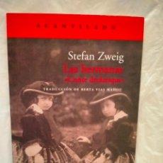 Livros: STEFAN ZWEIG . LAS HERMANAS . ACANTILADO. Lote 272780128