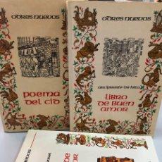 Libros: LOTE 3 LIBROS ODRES NUEVOS CONDE LUCANOR DEL BUEN AMOR POEMA DEL MIO CID CASTALLA. Lote 276822168