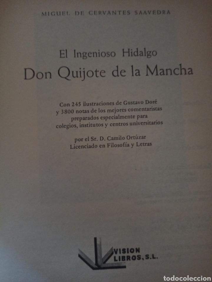 Libros: El ingenioso hidalgo Don Quijote de la Mancha ilustrado por Doré. Miguel de Cervantes. - Foto 5 - 277593448