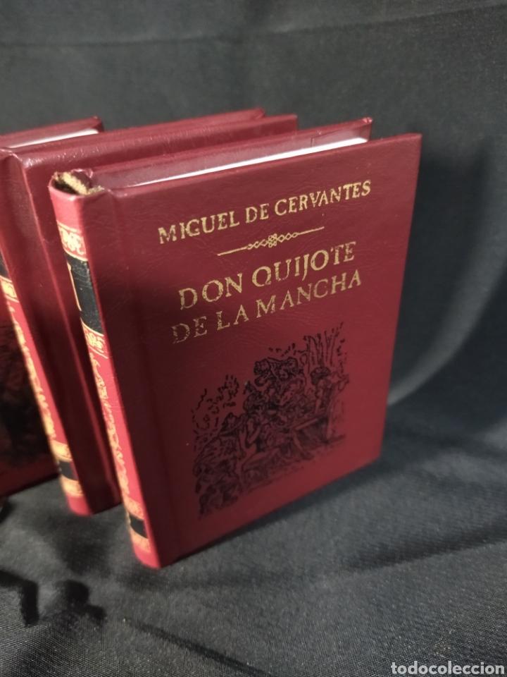 Libros: Lote de tres libros don Quijote de la mancha ,de pequeñas dimensiones , - Foto 2 - 283724548