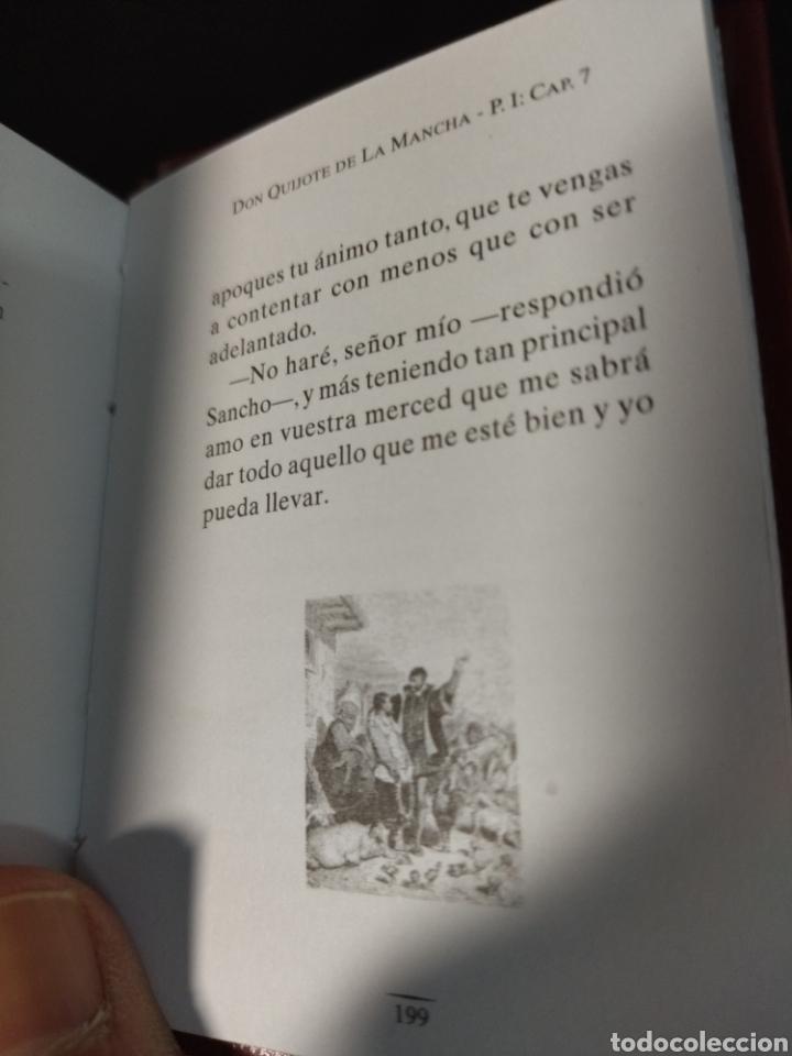 Libros: Lote de tres libros don Quijote de la mancha ,de pequeñas dimensiones , - Foto 7 - 283724548