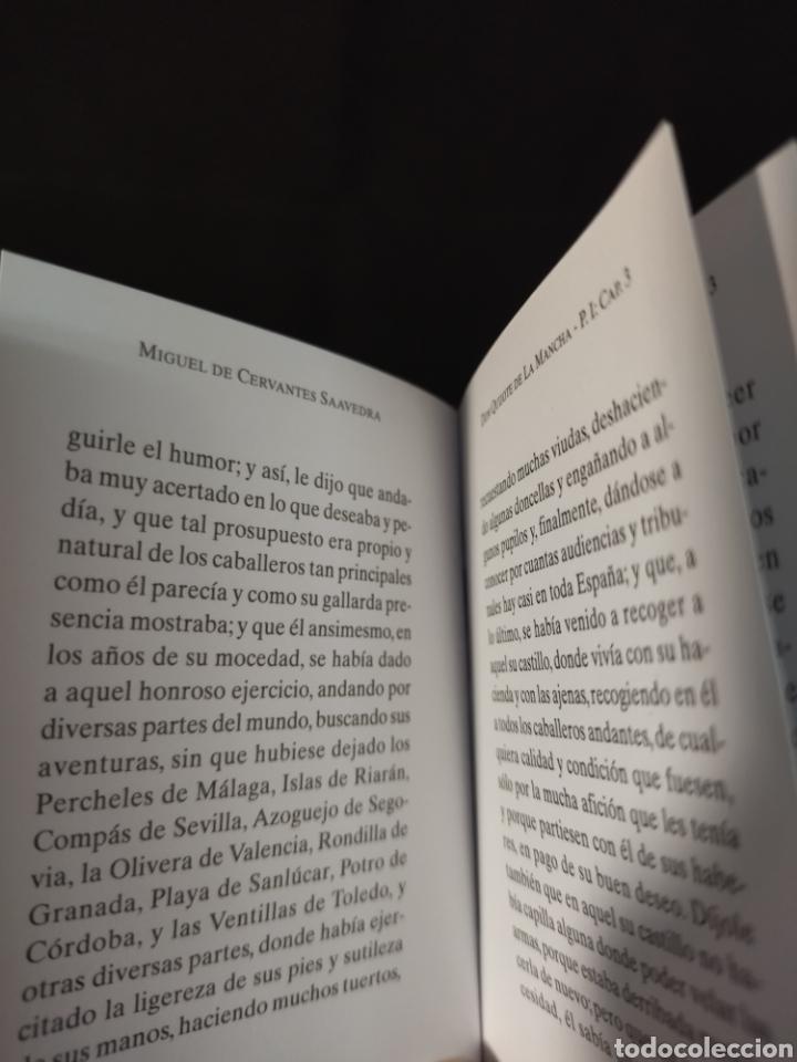 Libros: Lote de tres libros don Quijote de la mancha ,de pequeñas dimensiones , - Foto 8 - 283724548