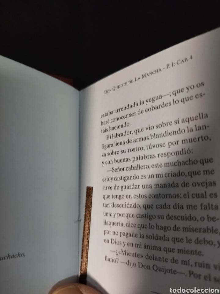 Libros: Lote de tres libros don Quijote de la mancha ,de pequeñas dimensiones , - Foto 10 - 283724548