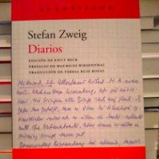 Libros: STEFAN ZWEIG. DIARIOS .ACANTILADO. Lote 287384478