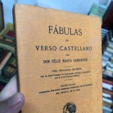 Libros: FABULAS - FELIZ MARIA SAMANIEGO - MADRID. Lote 287599578