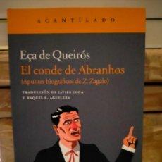 Libros: ECA DE QUEIRÓS. EL CONDE DE ABRANHOS .ACANTILADO. Lote 289022833