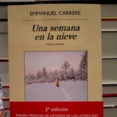 Libros: EMMANUEL CARRÉRE. UNA SEMANA EN LA NIEVE .ANAGRAMA. Lote 296897913