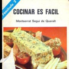 Libros: COCINAR ES FACIL - FASCÍCULO 2 - MONTSERRAT SEGUI DE QUERALT. Lote 42259301