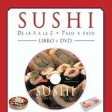 Libros: COCINA. GASTRONOMÍA. SUSHI DE LA A LA Z. PASO A PASO - STEVEN PALLETT. LIBRO+DVD (CARTONÉ). Lote 114621524