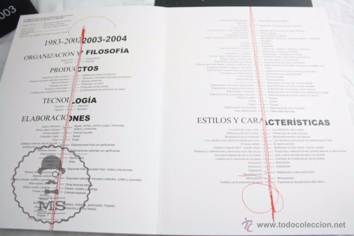 Libros: Pareja Libros - El Bulli 2003 y 2004. Ferran Adrià, Juli Soler y Albert Adrià - El Bulli Books - Foto 11 - 109776372