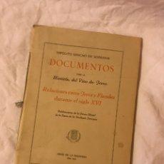 Libros: RELACIONES ENTRE JEREZ Y FLANDERS DURANTE EL SIGLO XVI. Lote 75729763