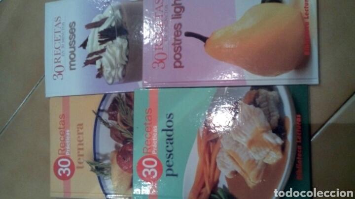 4 LIBROS DE COCINA 30 RECETAS (Libros Nuevos - Ocio - Cocina y Gastronomía)