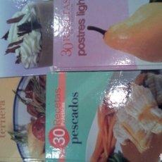 Libros: 4 LIBROS DE COCINA 30 RECETAS. Lote 87247390