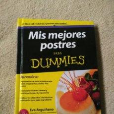 Libros: MIS MEJORES POSTRES PARA DUMMIES. Lote 90968550