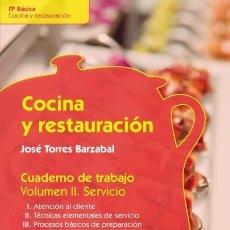 Libros: COCINA Y RESTAURACIÓN. CUADERNO DE TRABAJO SÍNTESIS. Lote 98597467