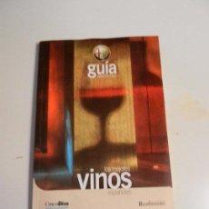 Libros: LOS MEJORES VINOS ESPAÑOLES GUÍA ALFA ROMERO RESTAURADORES. . Lote 104801227