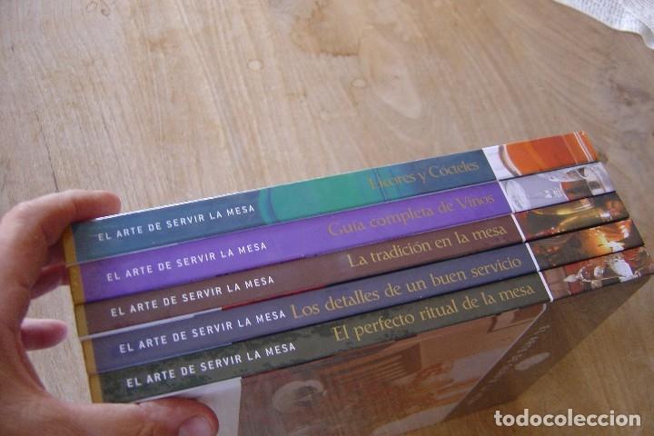 LOTE: 5 VOLÚMENES EL ARTE DE SERVIR LA MESA. PRECINTADOS. (Libros Nuevos - Ocio - Cocina y Gastronomía)