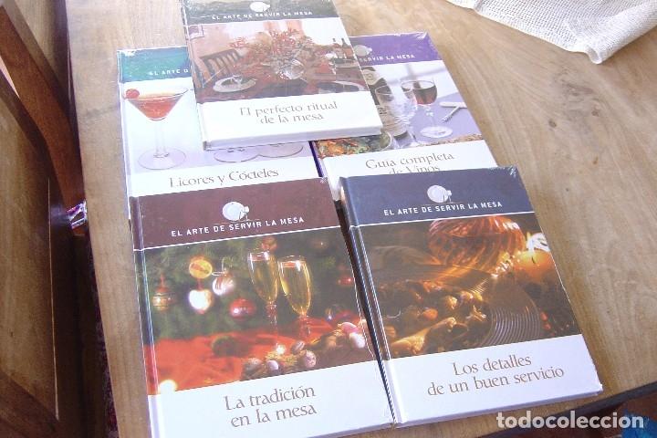 Libros: LOTE: 5 VOLÚMENES EL ARTE DE SERVIR LA MESA. PRECINTADOS. - Foto 3 - 121638159