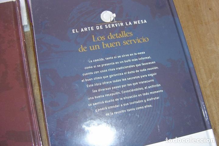 Libros: LOTE: 5 VOLÚMENES EL ARTE DE SERVIR LA MESA. PRECINTADOS. - Foto 5 - 121638159