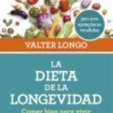 Libros: LA DIETA DE LA LONGEVIDAD. Lote 128539456