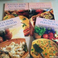 Libros: KIT 4 LIBROS COCINA «EDIMAT LIBROS». Lote 131001387