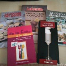 Libros: KIT 5 LIBROS COCINA. Lote 131045873