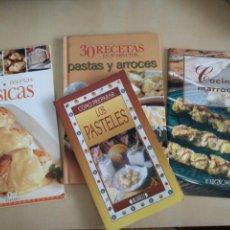 Libros: KIT 4 LIBROS COCINA. Lote 131046137