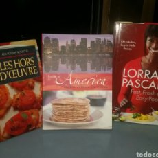 Libros: LIBROS DE COCINA 2 DE ELLOS EN INGLÉS Y 1 EN FRANCES. Lote 139595592