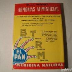 Libros: ARMONÍAS ALIMENTICIAS. AUTOR: V.L.FERRÁNDIZ. AÑO 1974. NUEVO.. Lote 139902618