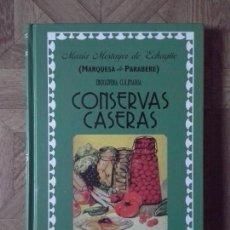 Libros: MARQUESA DE PARABERE - CONSERVAS CASERAS. Lote 142853262