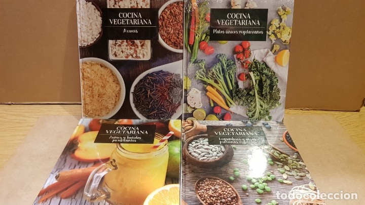 Libros: COCINA VEGETARIANA / COLECCIÓN COMPLETA Y PRECINTADA / 15 TOMOS / LEER Y VER FOTOS. - Foto 4 - 147676082