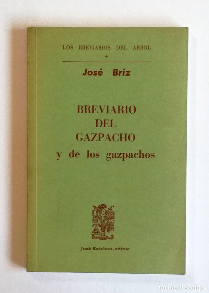 BREVIARIO DEL GAZPACHO Y DE LOS GAZPACHOS (Libros Nuevos - Ocio - Cocina y Gastronomía)