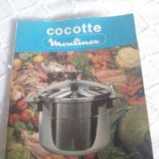 Libros: COCOTTE - MOULINEX- CONSEILS . RECETTES. Lote 155811049